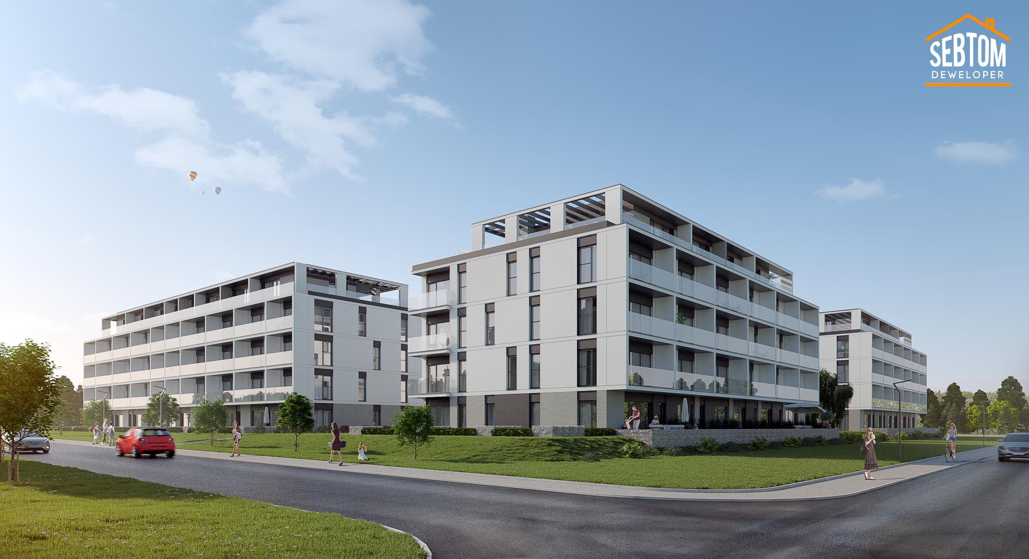 Mieszkanie M09 [Piętro III] Piła, Budynek 1A, ul. Kazimierza Wielkiego [Szklane Tarasy]